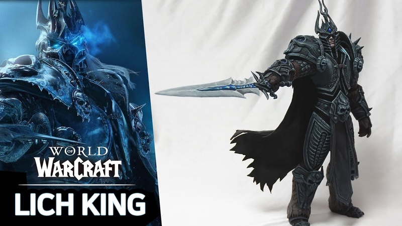 Making the Lich king World of Warcraft Air dry clay Shadowlands