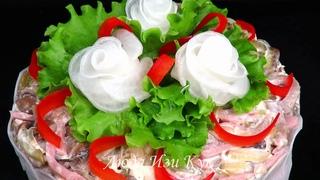 НОВИНКА Обалденный Мясной салат ФАВОРИТ на праздничный стол 2021 вкусно красиво Люда Изи Кук салаты