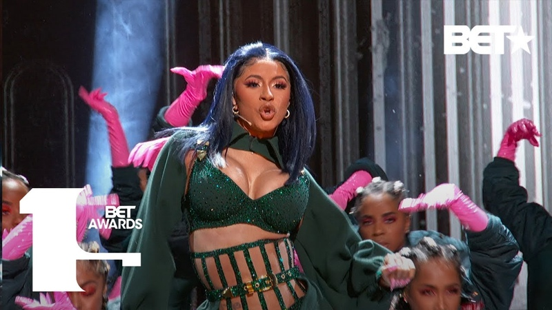 """Cardi B Offset In FIRE Clout"""" Press"""" Performance At The BET Awards BET Awards 2019"""