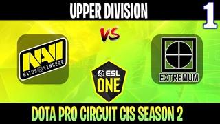 Natus Vincere vs EXTREMUM - Game 1, Group Stage - Dota Pro Circuit Spring League 2021: Season 2 Upper Division
