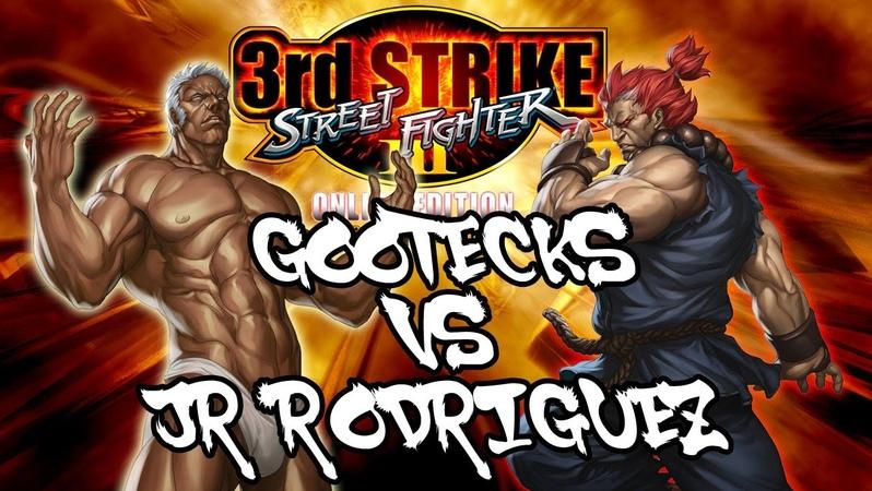 SFIII 3rd Strike Online Edition Gootecks Urien VS JR RODRIGUEZ Akuma Ranked Matches