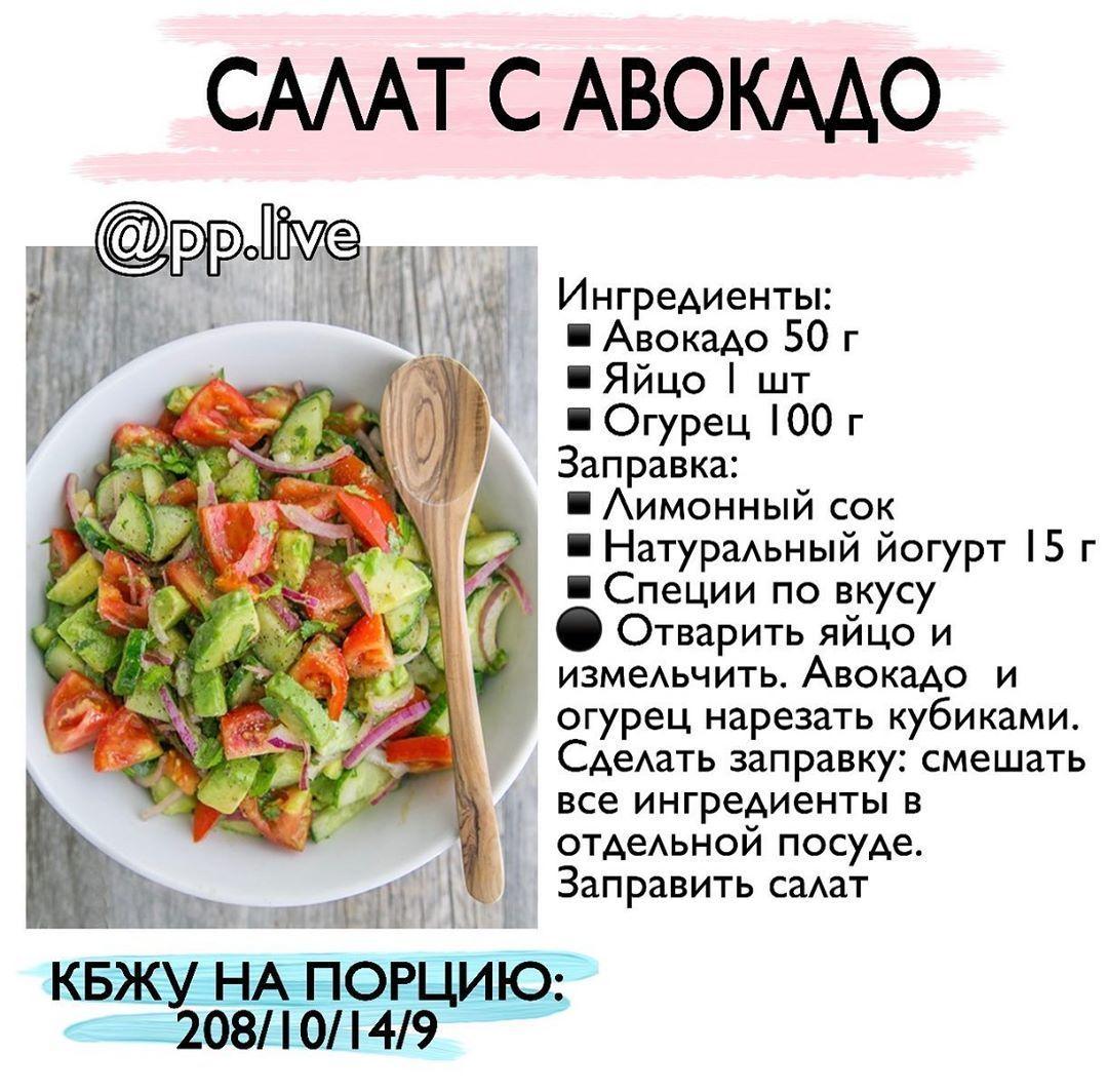 Подборка блюд на 4 приема пищи