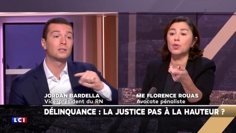 Jordan Bardella ridiculise une avocate sur LCI Vous êtes le symbole du laxisme de la justice