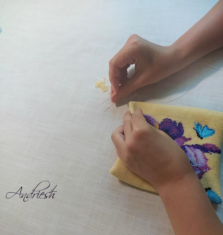 Как я сшиваю донышко и вшиваю в сумки подклад и фермуар., изображение №3