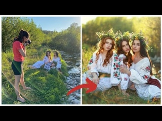 Natural Light Golden Hour Photoshoot R5 + 85mm 1.2 , Behind The Scenes
