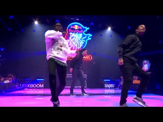Les Twins ft. Salif Crooksboyz performing live ¦ Red Bull Dance Your Style World Final Paris 2019