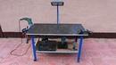 Самодельный передвижной верстак для гаража и мастерской. DIY rolling workbench.