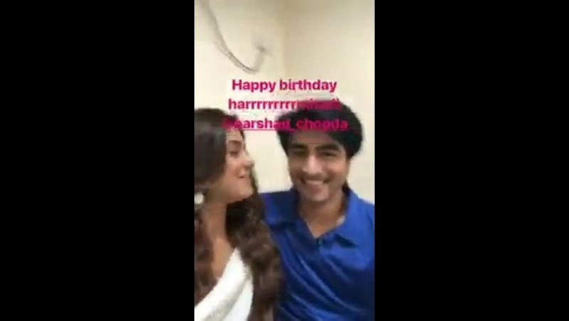 Here it is ppl @jenwingets bday wish for our bday boy @ChopdaHarshad Dont let that inner child in you die you bo