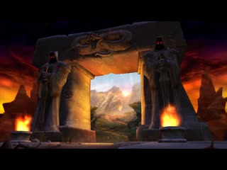 Animated World of Warcraft Classic Login Screen