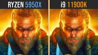 AMD RYZEN 9 5950X vs INTEL i9-11900K | Test in 8 Games