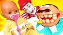 Видео с куклами - БЕБИ БОН и Мистер Зубастик чистят зубы! Игры для детей. Новые мультики с baby bon