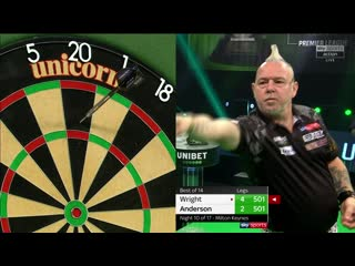 Peter Wright vs Gary Anderson (PDC Premier League Darts 2020 / Week 10)