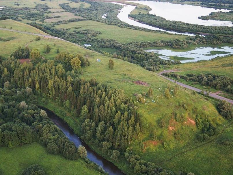 Современный вид на место расположения городища Солдырское I (Иднакар)