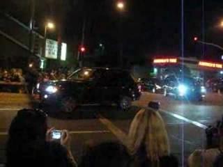 Michael Jackson's  Funeral Motorcade in Glendale, CA