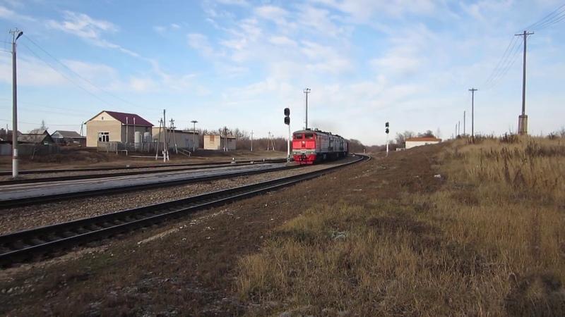 3ТЭ10М-1382 с грузовым поездом на станции Волово