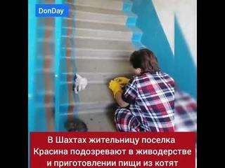 +18 Мать и дочь варили котят и ели их