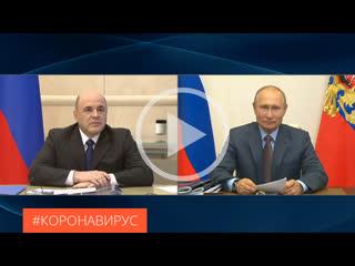Михаил Мишустин представил Президенту Владимиру Путину общенациональный план по восстановлению экономики