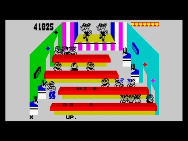 Tapper 1985 128k AY Music Version Walkthrough ZX Spectrum