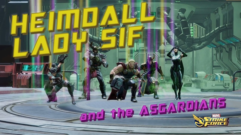 Heimdall and Sif The Asgardians Team Showcase Marvel Strike Force