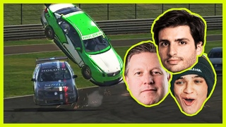 WHERE DID HE GO? // iRacing with Zak Brown, Carlos Sainz, Dario Franchitti & More