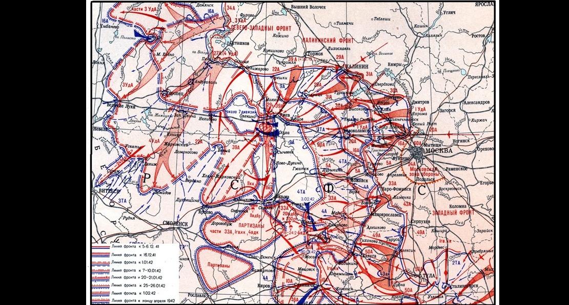 Ржевская битва -- карта
