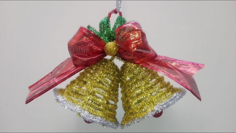 🔔 Campana navideña con limpiapipas Christmas bell with pipe cleaner