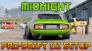 Midnight Pro Drift III Custom Setup Nissan Firelady Z S30 Datsun 240Z CarX Drift Racing 2