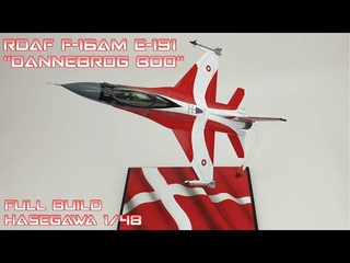 "FULL VIDEO BUILD Hasegawa 1/48 RDAF F-16 ""Dannebrog 800"""