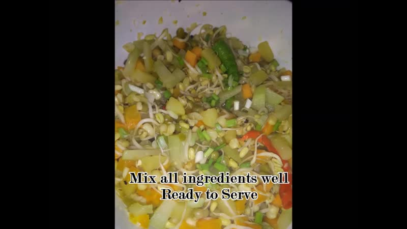 Sauteed Sprouted Mung Beans and Friends