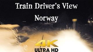 TRAIN DRIVER'S VIEW: Windy winter Saturday Local Service in 4K Ultra HD