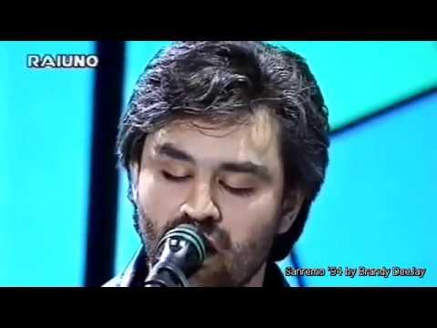 Il mare calmo della sera Andrea Bocelli at Festival Sanremo 1994