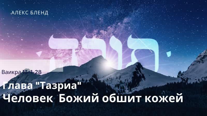 Недельная глава Ваикра Человек Божий обшит кожей Ваикра 13 1 28