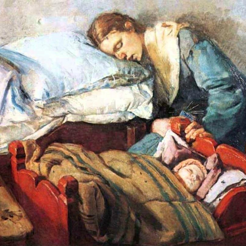 Мама и папа смотрели телевизор, как вдруг мама сказала: «Я устала, уже поздно, пойду спать».