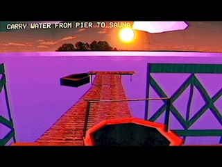 Sauna 2000: Surreal PS1 Styled Sauna Horror Game where You Try to Heat a Sauna by Sunset (3 Endings)