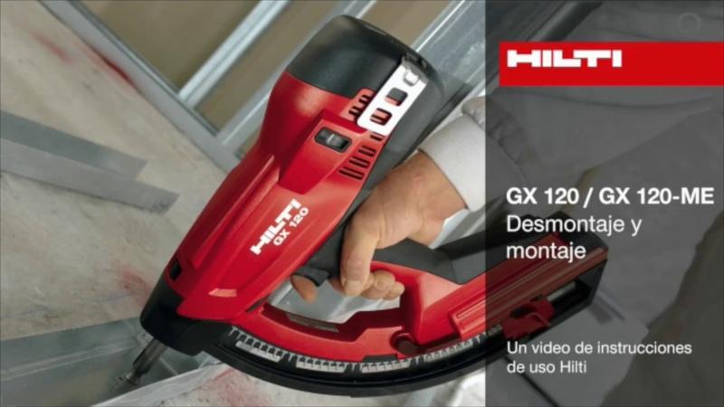 Herramienta de fijación a gas GX 120 GX 120 ME Montaje y desmontaje смотреть онлайн без регистрации