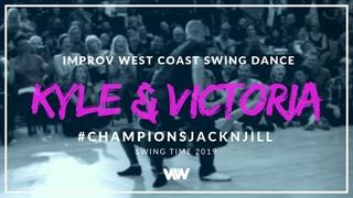 West Coast Swing Dance | Kyle Redd + Victoria Henk | 1st Place Champions J&J - Swingtime 2019