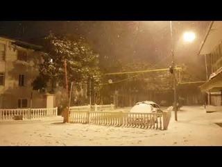 До весны 13 дней, а пока в Лазаревском ЗИМА! Снег и метель продолжаются. Море и пляж в феврале 2021