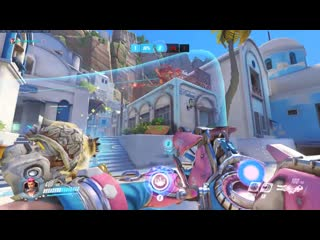 Pog zarya double jump followed by a 5 man grav to win the game