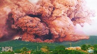 PANIC EVACUATION! Sudden Eruption of the Volcano La Soufriere, Saint Vincent and The Grenadines