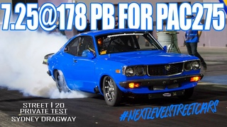 PAC275 20B STREET CAR RUNS @178 PB IN TESTING