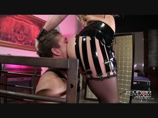 Aj applegate - caged milking  [ mistress leather femdom anal facesitting strap on latex fetish bdsm bondage hardcore]