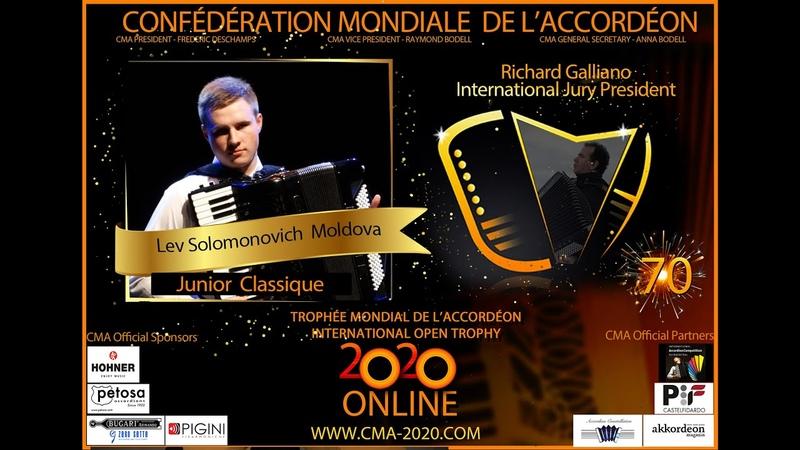 Junior Classic 1st Round Lev Solomonovich Moldova www CMA 2020 com
