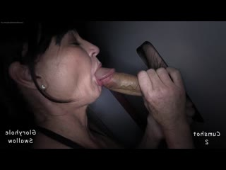 Gloryhole Swallow - Samantha C 1st [ blowjob oral sex amateur big black dick cock suck full минет creampie mature BBC porn sissy