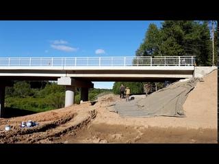 Мостовой переход через речку Сельменьга в  Виноградовском районе Архангельской области строится.
