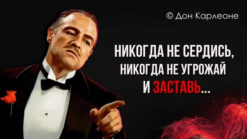 🥃 Дон Корлеоне Слова от которых мурашки по коже Лучшие цитаты и афоризмы Крестного отца 🚬