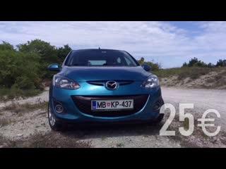 Car rental in Slovenia, automatic bencin Прокат автомобилей в Словении. Обзор Mazda 2. Izposoja