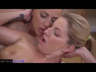 Georgie Lyall, Nataly Cherry Massage, Lesbians, Cunnilingus, Finger, In oil, Intimate haircut