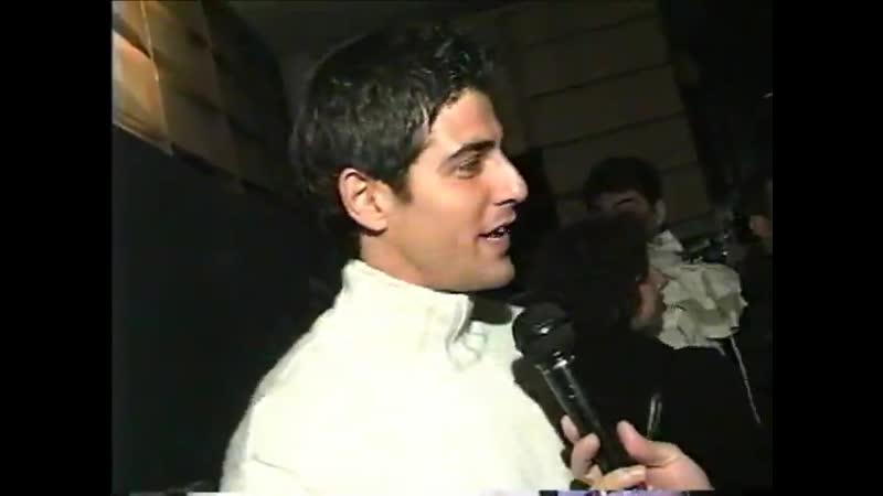 Первое интервью Рейналдо Джанеккини и Марилии Габриэлы в программе Over Fashion 6 07 1999