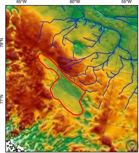 Подо льдами Гренландии обнаружили бассейн древнего озера Под Гренландским ледяным щитом ученые из Колумбийского университета (США) обнаружили отложения огромного бассейна древнего озера. Судя по