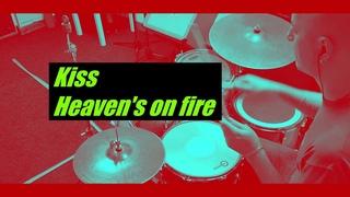 Kiss - Heaven's on fire - drumcover by Evgeniy sifr Loboda